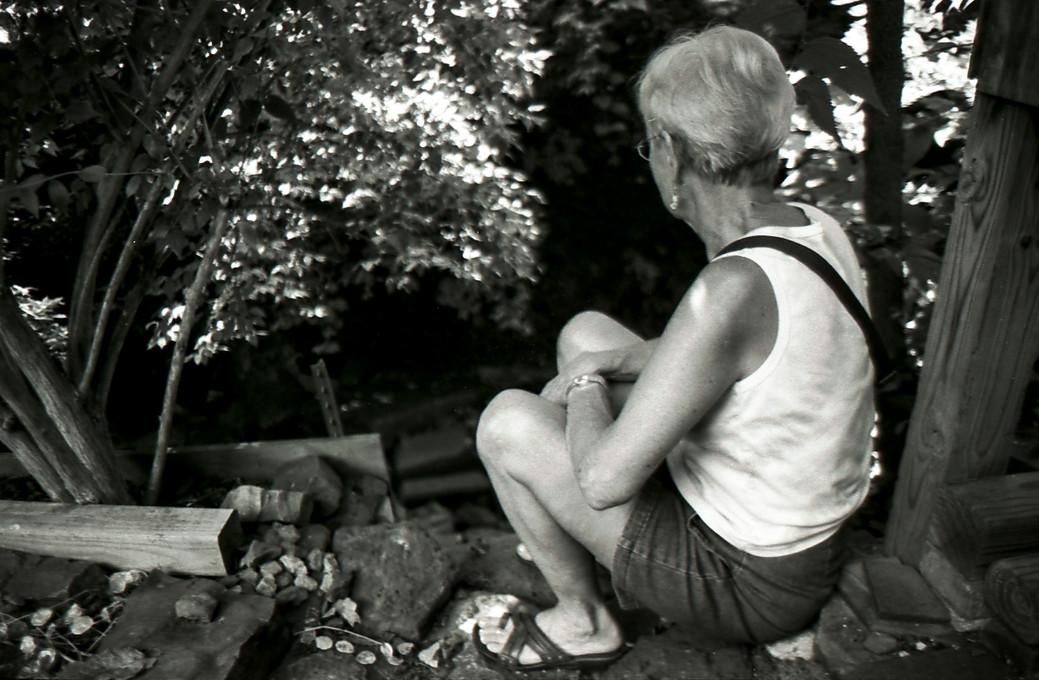 Grandma by her Creek, 2013