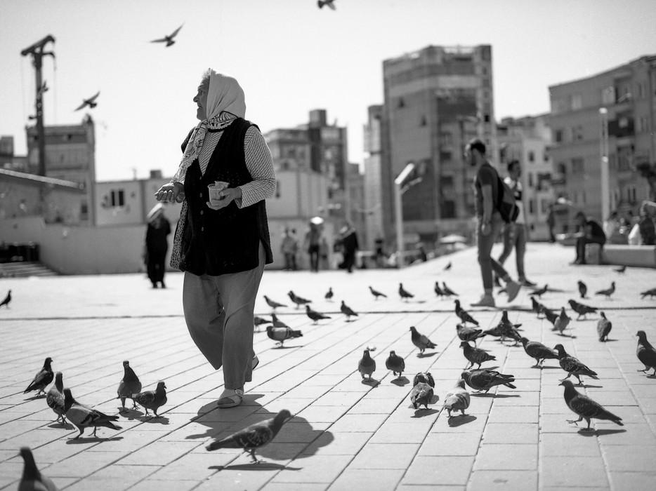 A Pigeon Lady in Taksim Sqare, 2017