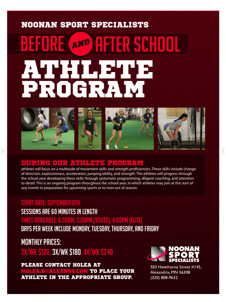Before/After School Training Flyer