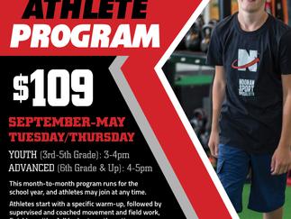 2020 School Year Athlete Program