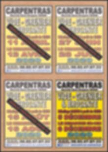 annulation covid PLANNING CARPENTRAS SIT