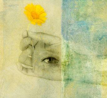 Generosity. Third eye in a hand holding