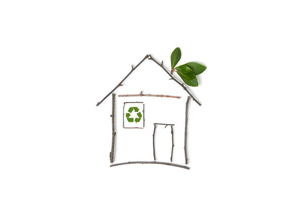 Symbol for green building and nature arc