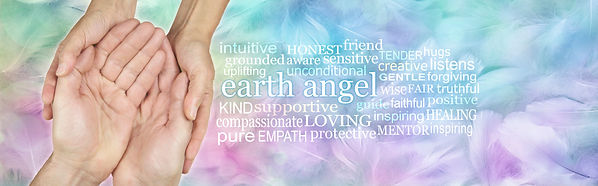 Thank You Earth Angel - a female hands c