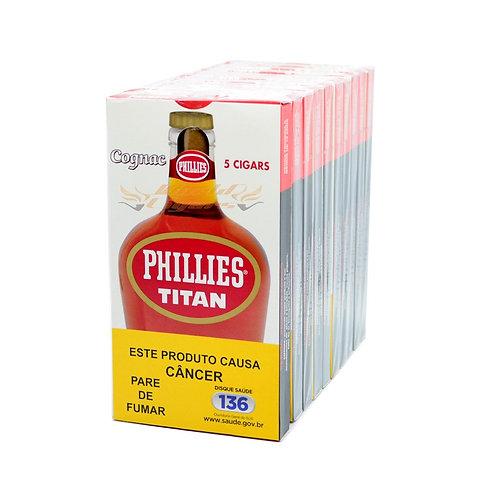 Charuto Titan Cognac  – Pacote com 10 Petacas com 5 unidades cada