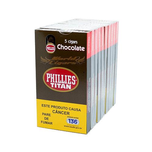 Charuto Titan Chocolate  – Pacote com 10 Petacas com 5 unidades cada