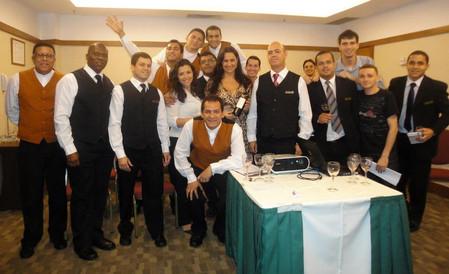 Treinamento e degustação para a equipe do Hotel Sheraton Barra.