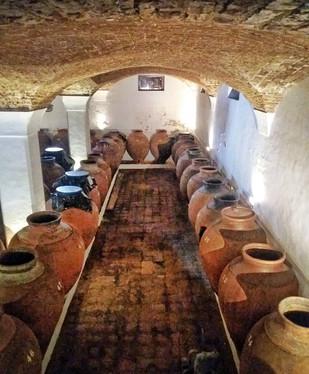 Coisa mais linda da vida a adega de ânforas da vinícola José de Sousa.