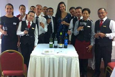Treinamento com degustação para a equipe do Hotel Rio Othon Palace.