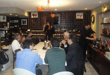 Apresentação dos vinhos VF na loja Safra Wine Store.