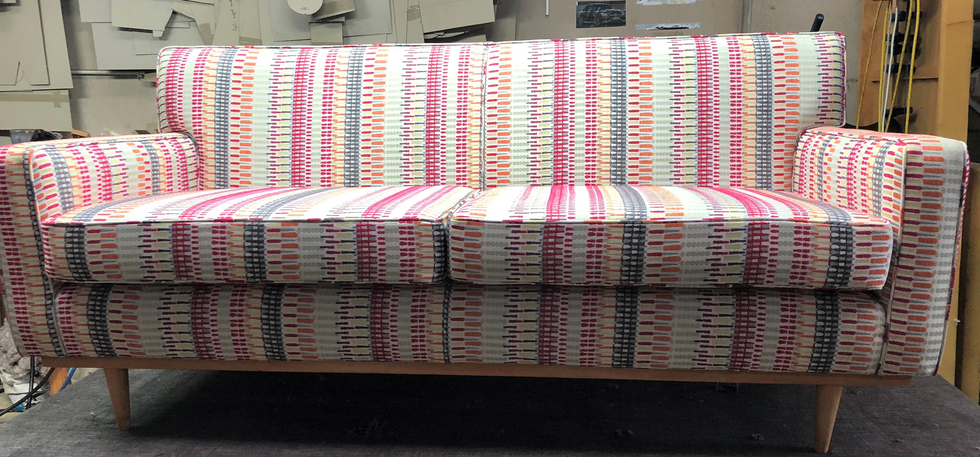 Couch Upholstery - Reupholstered Couch