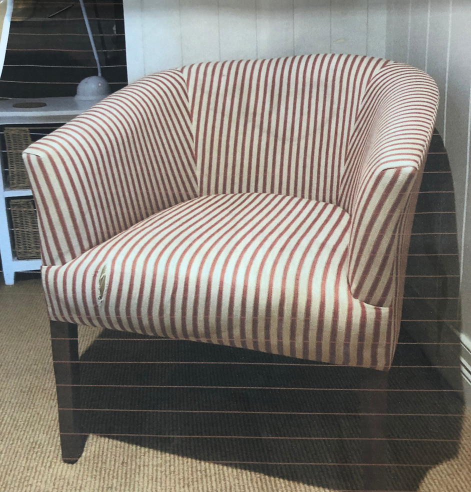 Tub Chair Upholstery Before and After