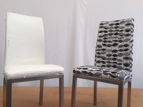 Furniture Upholstery Before and After Dining Chairs