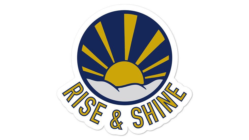 RISE & SHINE Bubble-free stickers