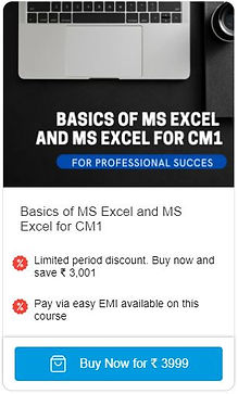 Basics of MS Excel and MS Excel for CM1.JPG