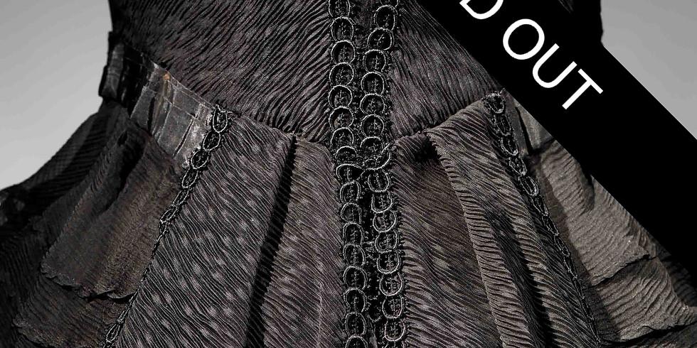 הרצאת זום 8.2.2021  על החיים ועל המוות! האובססיה לשחור, משמלות אֵבֶל ועד השמלה השחורה הקטנה