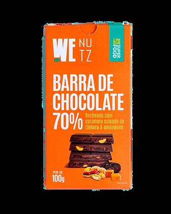 Barra de Chocolate 70% com Caramelo Salgado WeNutz
