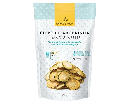 Chips de Abobrinha Bianca Simões