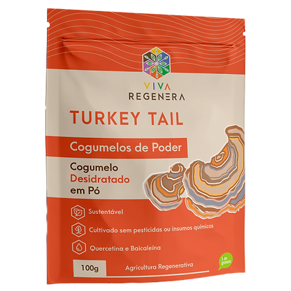 TURKEY TAIL COGUMELOS DO PODER VIVA REGENERA 100G