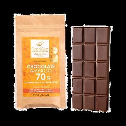 Chocolate 70% Castanha de Caju e Flor de Sal Cuore di Cacao