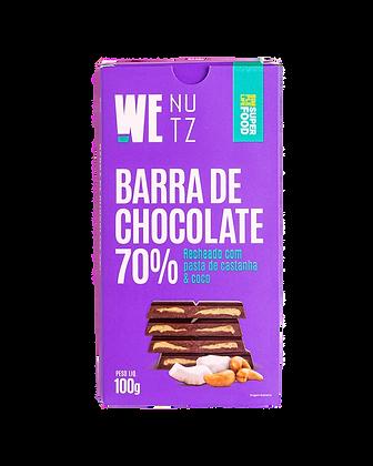Barra de Chocolate 70% com Coco WeNutz