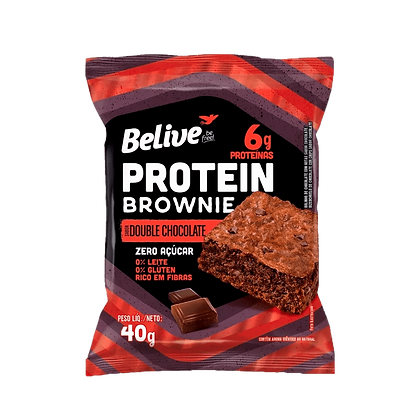 Brownie Protein Sem Açúcar Belive