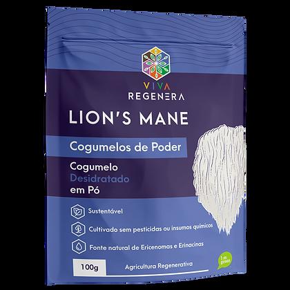 LION'S MANE COGUMELOS DO PODER VIVA REGENERA 100G