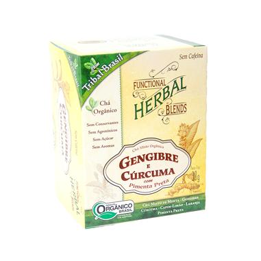 Chá Gengibre e Cúrcuma Tribal