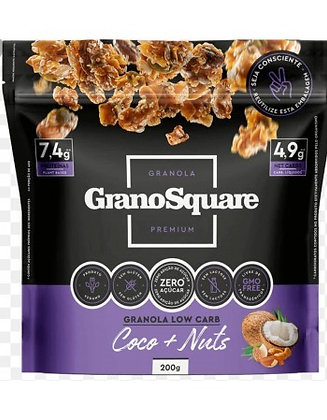 Granola Low Carb Coco+Nuts Vegano GranoSquare