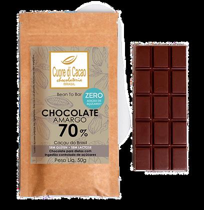 Chocolate 70% Zero Açúcar Cuore di Cacao
