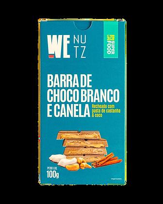 Barra de Choco Branco e Canela com Pasta WeNutz