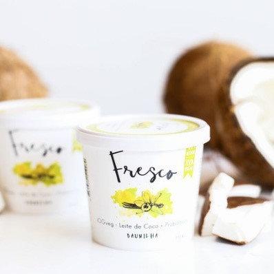 Iogurte de Coco Sabor Baunilha Eat Fresco