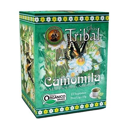 Chá Tribal Camomila, Melissa e Menta – sachê