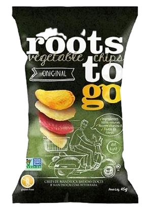 Chips de Mandioca e Batata Doce Roots to Go