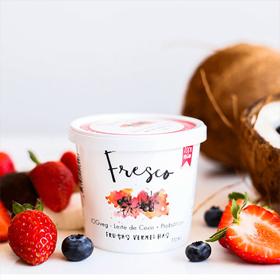 Iogurte de Coco Sabor Frutas Vermelhas Eat Fresco