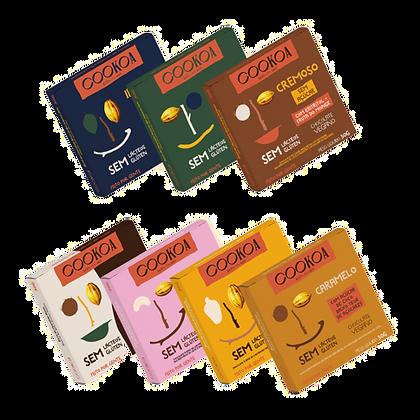 Barras de Chocolate Cookoa Sabores