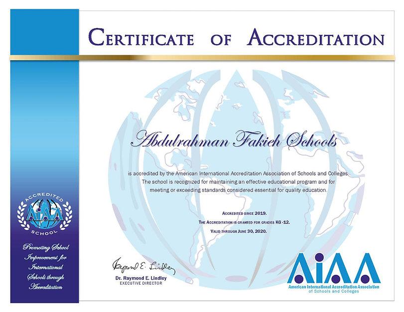 Accreditation Afsg