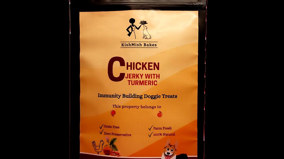 KishMish Bakes Chicken Jerky with Turmeric 80 gm