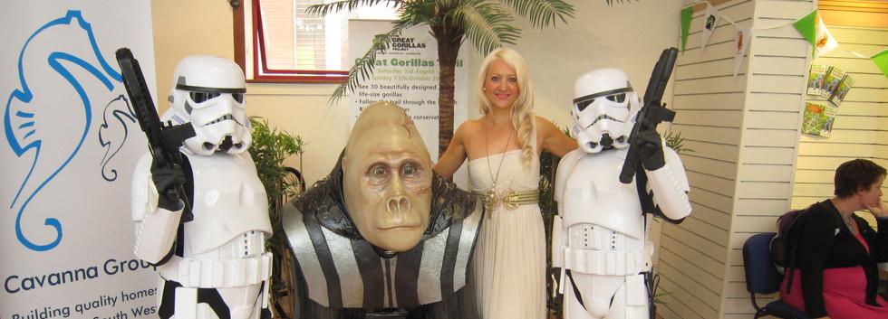 Darth Vader Gorilla and Storm Troopers.J