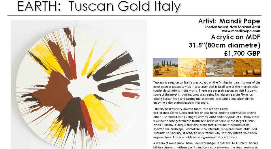 EARTH - Tuscan Gold Italy. Style and Nat
