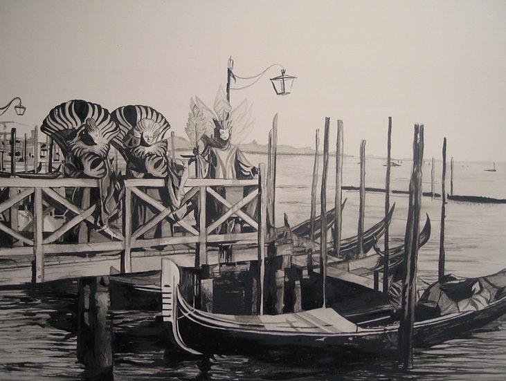 San Marco Wharf - Venice Italy
