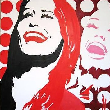 SOLD - Red Retro Laughing Pop Woman - Copy.jpg