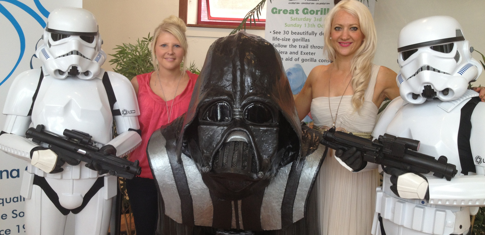 Darth Vader Gorilla with Storm Troopers