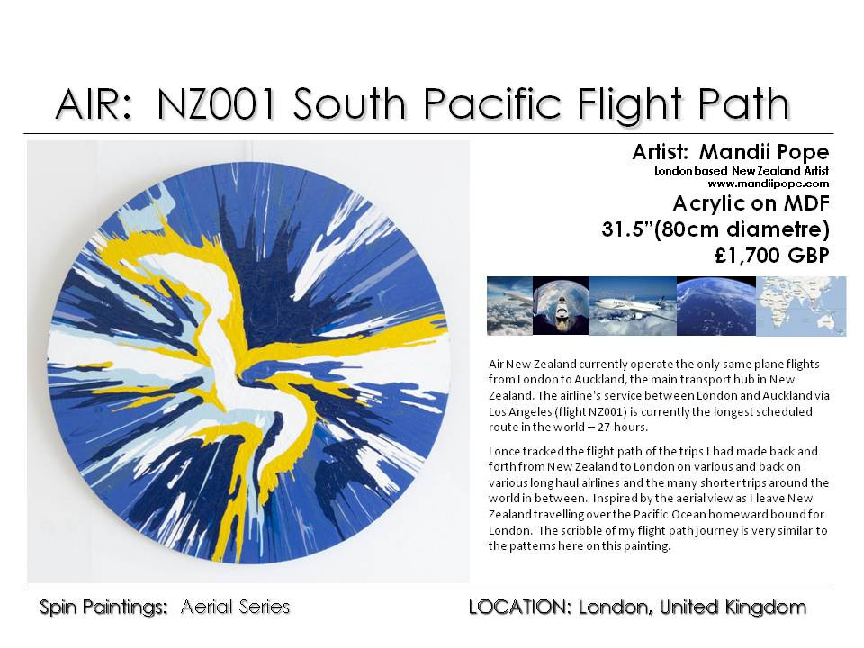 AIR - Sth Pacific Flight Path. Style and