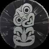 Silver Tiki on Black