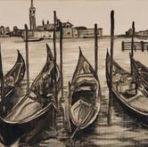 Venetian Gondolas at dusk