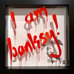 I am Banksy - Shock Red