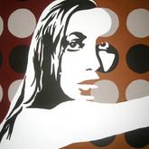 SOLD - Brown Retro Pop Woman