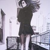 SOLD - Gisele Bundchen black coat in New York