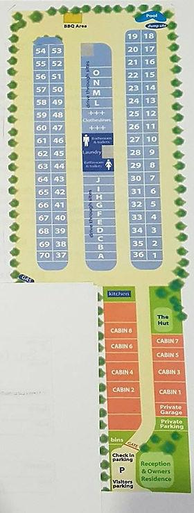 Site Map Outbck Oasis Carvan Park